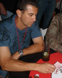 Blas Minor at an Arizona charity poker tournament