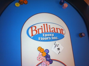 Brilliant Epoxy Floors custom poker felt