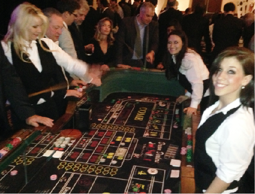 Casino Party Rentals craps table