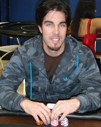 Dan Haren at a scottsdale charity poker tournament