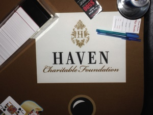 Haven Charitable Foundation Blackjack Felt
