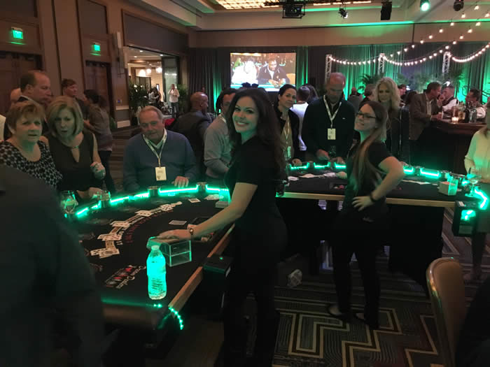 Casino Party Rentals with LED Lights