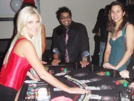 Dream Dealers at a charity casino night