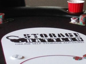 Storage Battles poker table