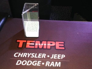 Tempe Chrysler Jeep Dodge Ram Blackjack Table