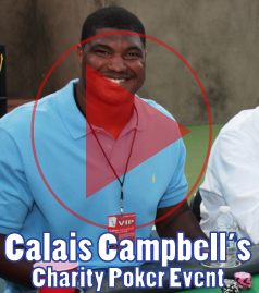 Calais Campbell of the Arizona Cardinals hosted a charity poker tournament benefiting the Care Fund and CRC Foundations