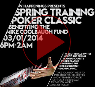 SLE Produced their annual Spring Training Poker Tournament at the W Hotel Scottsdale benefitting the Mike Coolbaugh Foundation