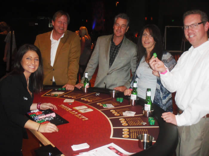 Casino equipment rentals and casino dealers for hire