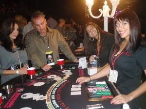Dynamic Sounds blackjack table at Nite Flite, 2010