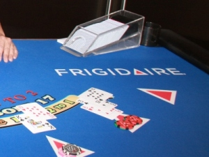 Frigidaire sponsored blackjack table