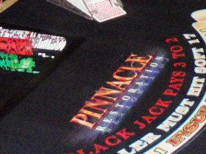 Pinnacle Restoration's blackjack tables