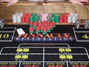 Pinnacle Restoration craps table
