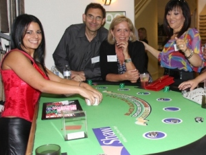 Shaw Floor Coverings sponsored blackjack table