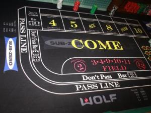 Subzero and Wolf Appliance custom craps table