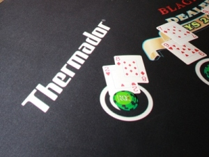 Thermador sponsored blackjack felt