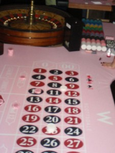 W Hotel Scottsdale's roulette felt for Breast Cancer Awareness